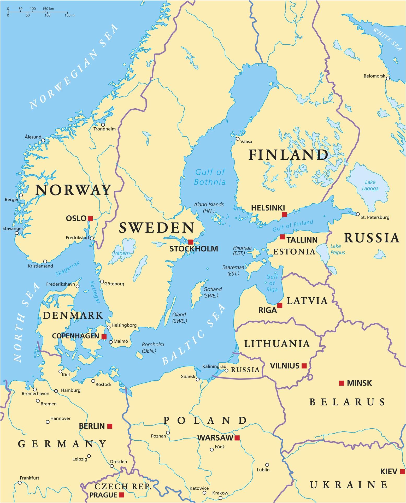 Karte der Ostsee