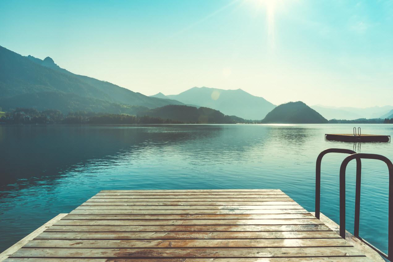 Wassertemperaturen in Seen abrufen