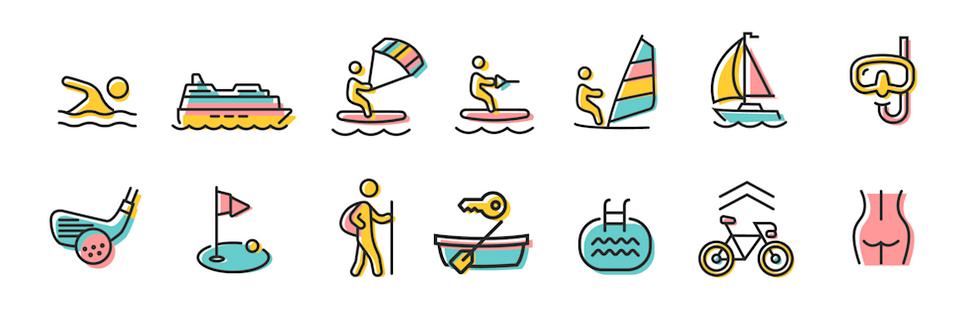 Illustration der Aktivitäten im & am Bodensee