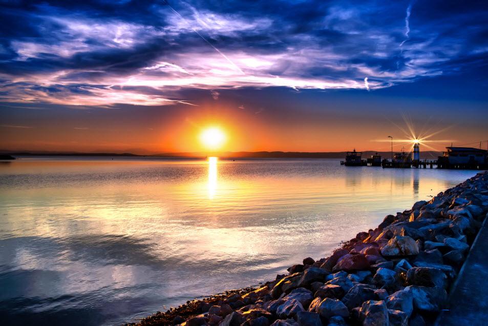 Sonnenuntergang am Neusiedler See