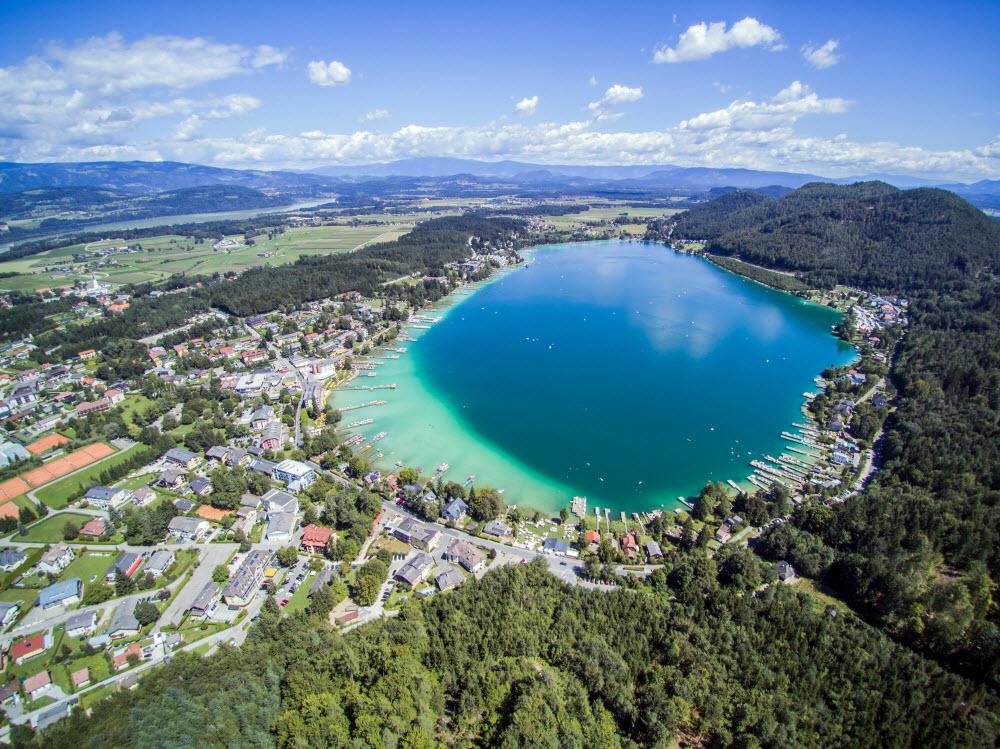 Luftaufnahme vom Klopeiner See