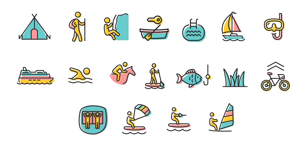 Illustration der Aktivitäten im & am Ossiacher See
