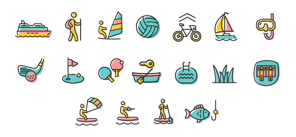 Illustration der Aktivitäten im & am Starnberger See