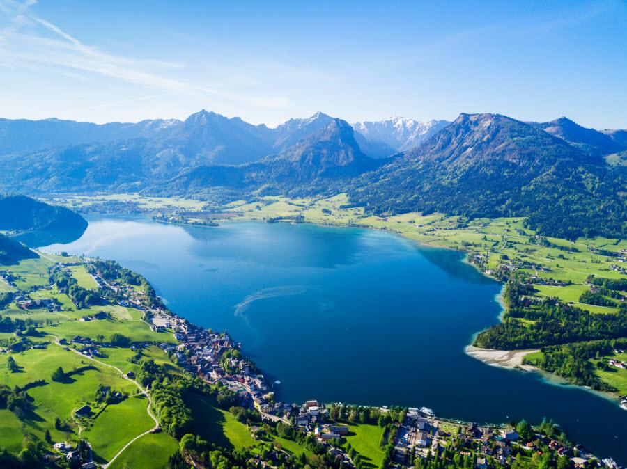 Blick auf den Wolfgangsee